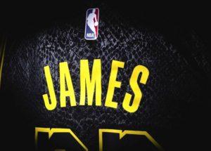 Tricoul lui LeBron James la Los Angeles Lakers